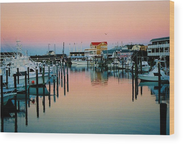 Cape May Wood Print featuring the photograph Cape May After Glow by Steve Karol