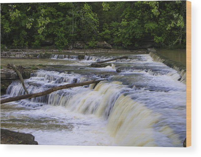 Cataract Falls Phase 1 Wood Print featuring the photograph Cataract Falls Phase 1 by Phyllis Taylor