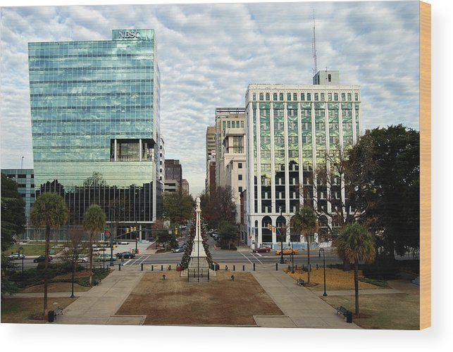 Christmas Wood Print featuring the photograph Christmas In Columbia Sc by Skip Willits