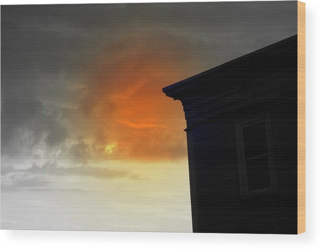 Sky Wood Print featuring the photograph Clouds by Lois Lepisto