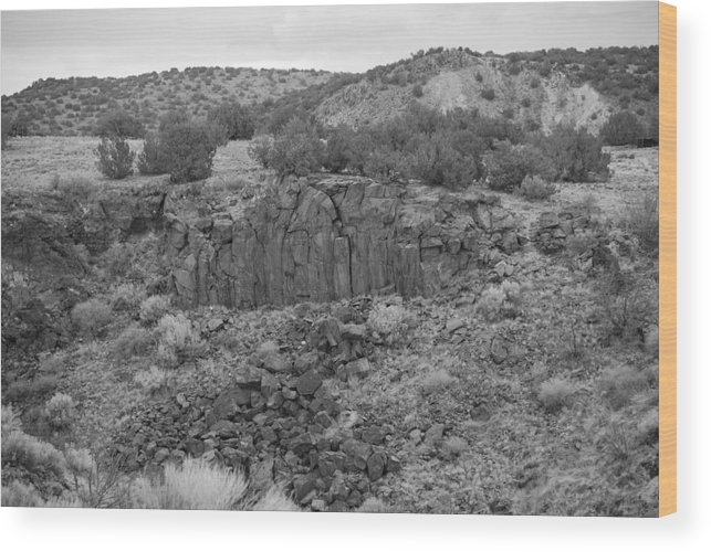 Rocks Wood Print featuring the photograph Cochiti Rocks by Rob Hans
