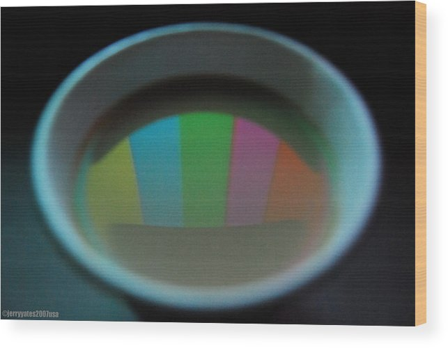 Cup Wood Print featuring the photograph Color Bars by Gerard Yates