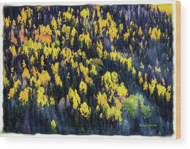 Colorado Wood Print featuring the mixed media Colorado Autumn #5 by Boyd Norton