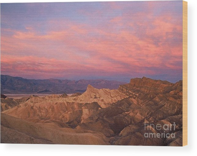 Death Valley Wood Print featuring the photograph Colorful Mountains by Sven Brogren