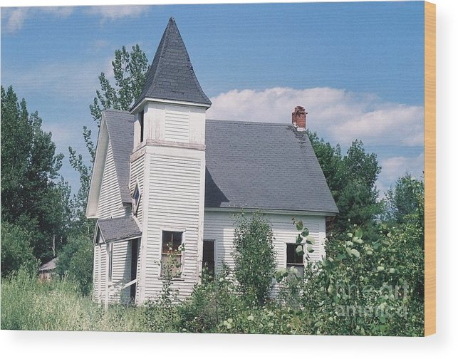 Abandoned Wood Print featuring the photograph Danforth Church by Lewis Lowell