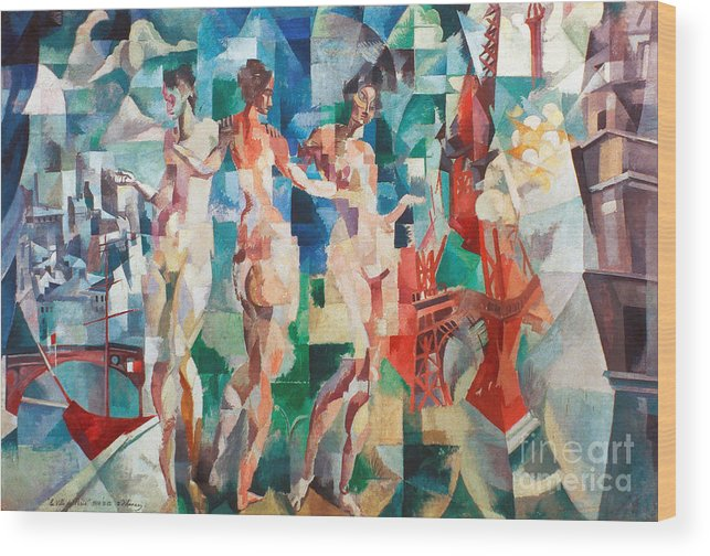 1910s Wood Print featuring the photograph Delaunay: City Of Paris by Granger