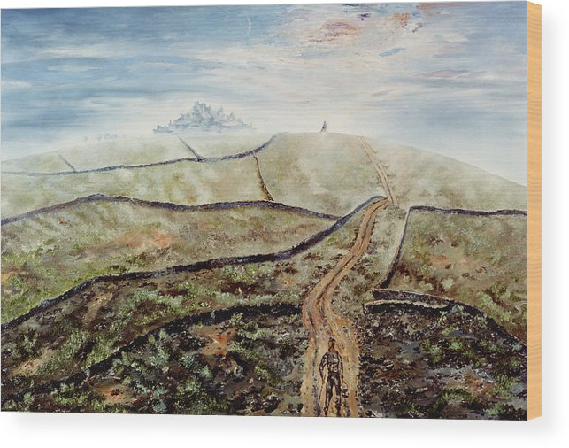 Walled City Wood Print featuring the painting Distant Journey by Richard Barham