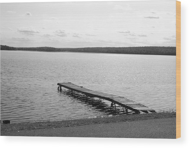 Dock Wood Print featuring the photograph Dock by Lisa Hebert