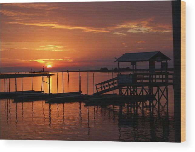 Dock Wood Print featuring the photograph Dock Of The Bay by Debbie May