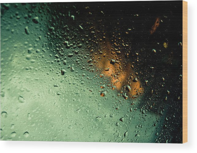 Water Wood Print featuring the photograph Droplets II by Grebo Gray