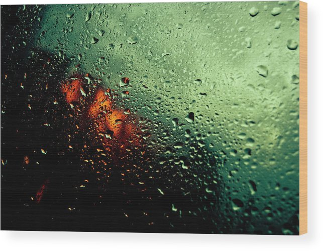 Water Wood Print featuring the photograph Droplets IIi by Grebo Gray