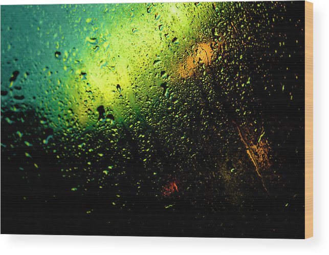 Droplets Wood Print featuring the photograph Droplets Xii by Grebo Gray