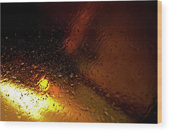 Droplets Wood Print featuring the photograph Droplets Xiv by Grebo Gray