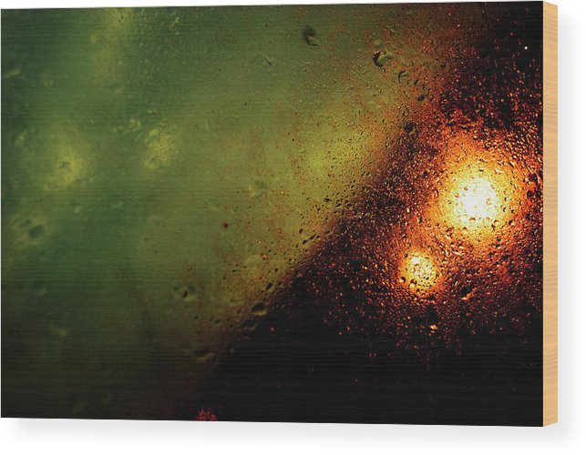 Droplets Wood Print featuring the photograph Droplets Xix by Grebo Gray