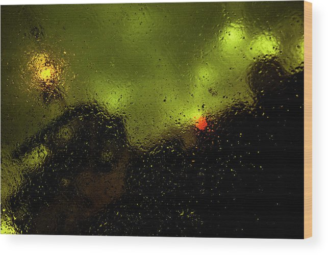 Droplets Wood Print featuring the photograph Droplets Xvi by Grebo Gray