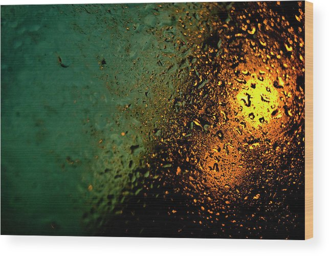 Droplets Wood Print featuring the photograph Droplets Xx by Grebo Gray