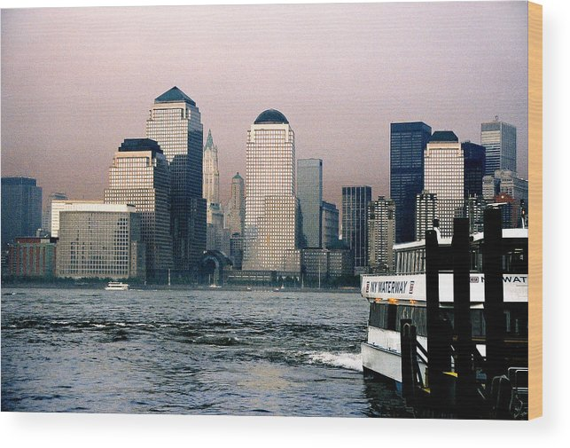 New York Wood Print featuring the photograph Empty Sky by Steve Karol