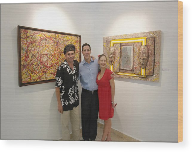 Exhibition Cozumel Wood Print featuring the photograph Exhibition Cozumel Museum Mexico by Angel Ortiz
