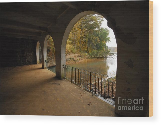 Dunbar Cave Wood Print featuring the photograph Fall Arches by Donald Groves