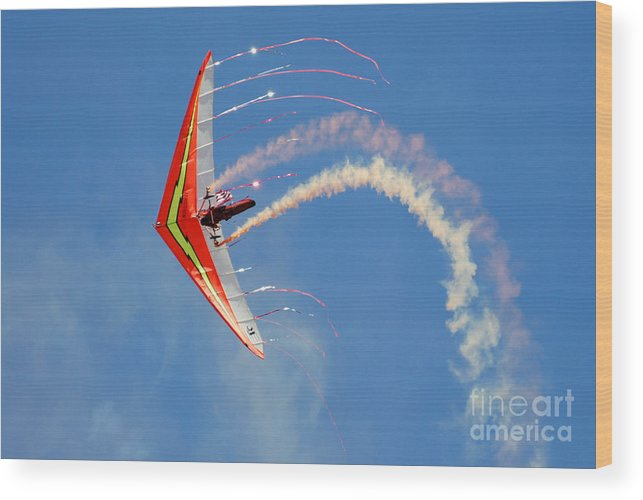 Sky Wood Print featuring the photograph Fantasy Flight by Larry Keahey