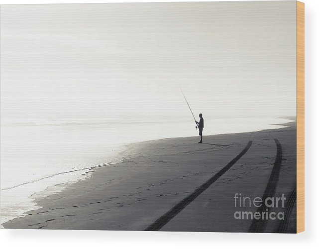 Fisherman Wood Print featuring the photograph Fisherman by Yurix Sardinelly