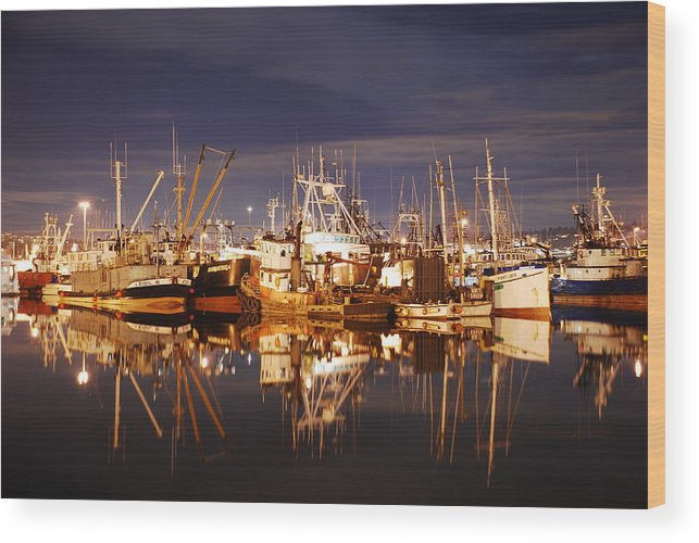 Fishing Wood Print featuring the photograph Fishermans Terminal by Alasdair Turner