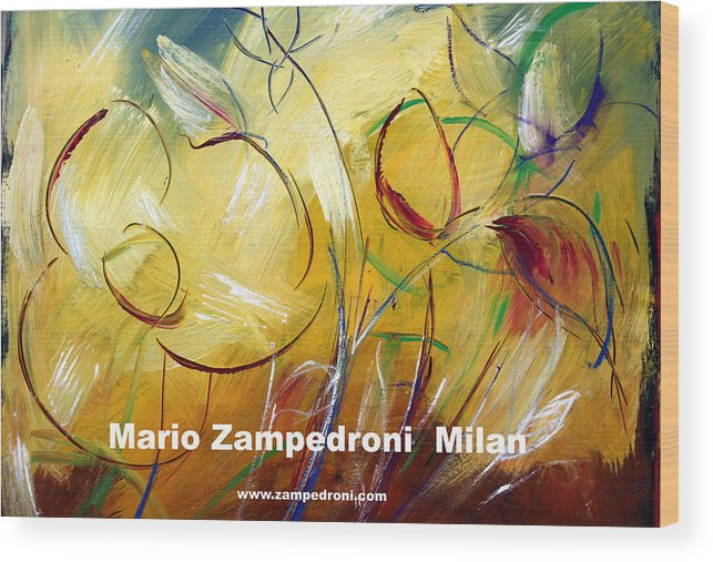 Artist Print Wood Print featuring the print Floral Poster by Mario Zampedroni