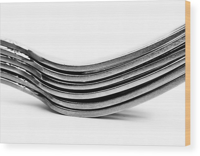 Flatware Wood Print featuring the photograph Forks by Onyonet Photo Studios