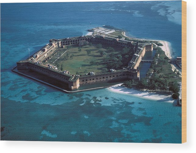 Fort Wood Print featuring the photograph Fort Jefferson by Carl Purcell