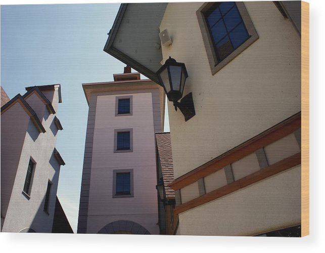 Architecture Wood Print featuring the photograph Frankenmuth Village Michigan by Lois Lepisto