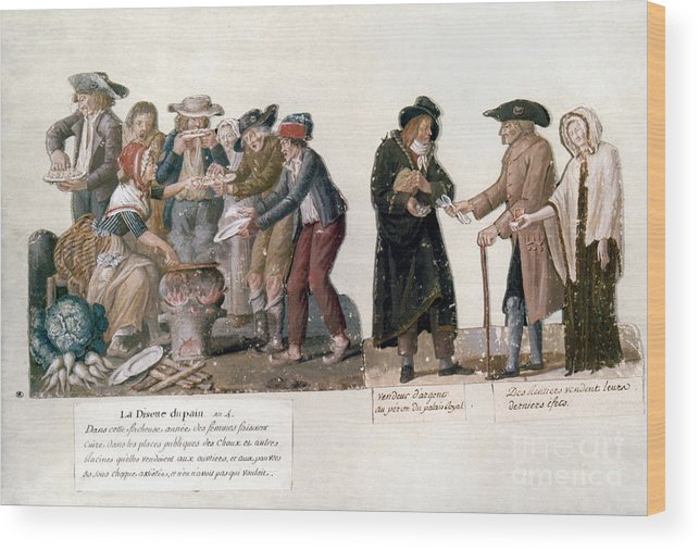 1795 Wood Print featuring the photograph French Revolution, 1795-96 by Granger