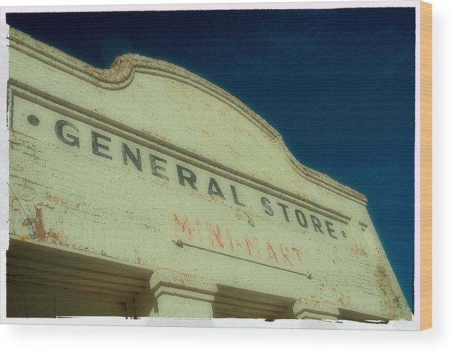 Landscape Wood Print featuring the photograph General Store by Werner Rolli