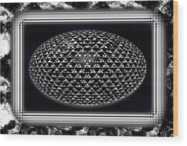 Digital Art Wood Print featuring the digital art Grand Embellishment by Mario Carini