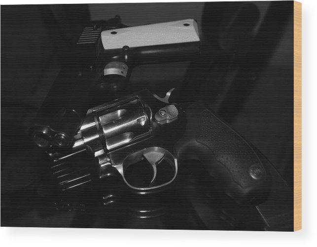 Guns Wood Print featuring the photograph Guns And More Guns by Rob Hans