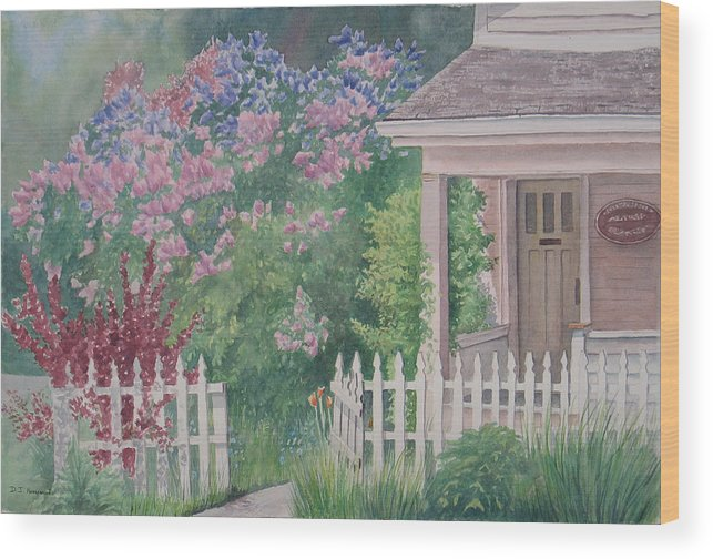 Heritage Wood Print featuring the painting Heritage House by Debbie Homewood
