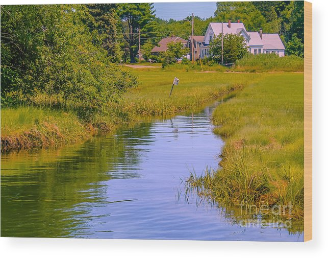 New England Wood Print featuring the photograph High Tide by Claudia M Photography