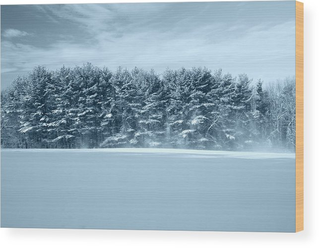 Landscape Wood Print featuring the photograph Hilltop by Tom Heeter