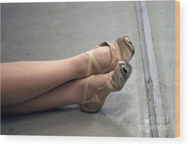 Dance Wood Print featuring the photograph Holes In Dance Shoes by Steve Augustin