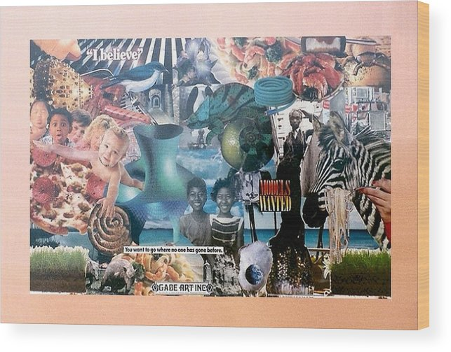 Beleive Wood Print featuring the photograph I Believe Number Seven by Gabe Art Inc