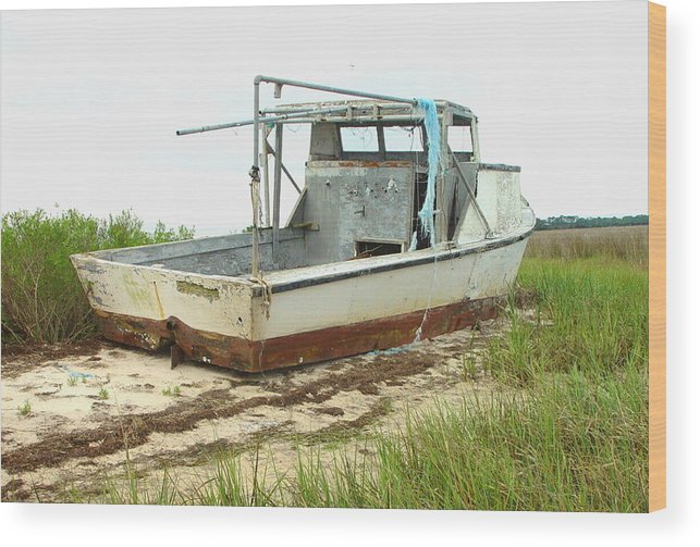 Boat Wood Print featuring the photograph Island Boat by Debbie May
