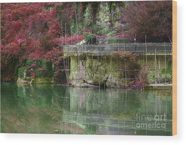 Landscape Wood Print featuring the photograph Jade Waters by Dot Xie