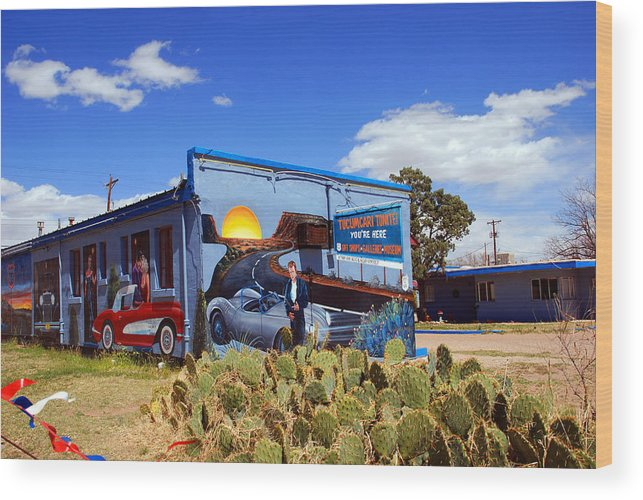 Route 66 Wood Print featuring the photograph James Dean Was Here Too by Susanne Van Hulst