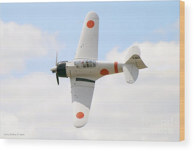 Airplanes Wood Print featuring the photograph Japanese Zero by Larry Keahey