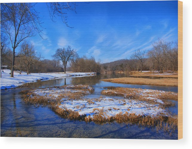 Landscape Wood Print featuring the photograph Leftover Snow by Rick Friedle