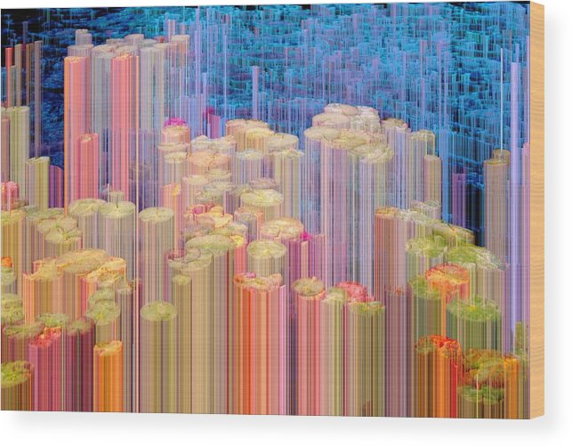 Abstract Wood Print featuring the photograph Lily Pads 4 Arise by Lyle Crump