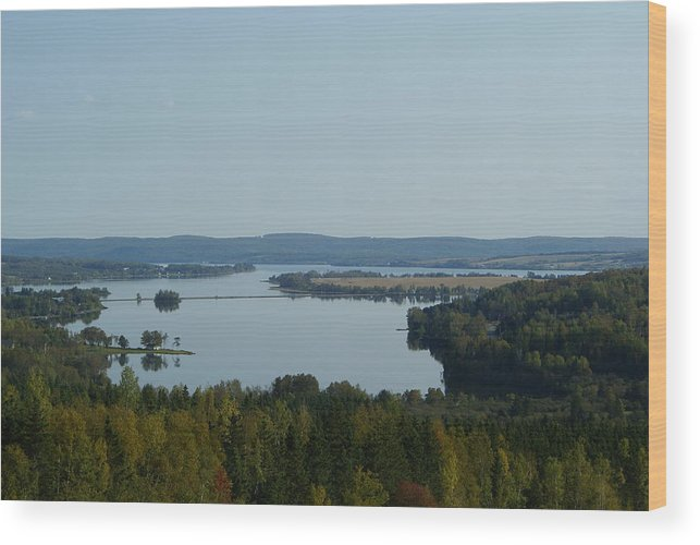 Landscape Wood Print featuring the photograph Long Lake by Lisa Hebert