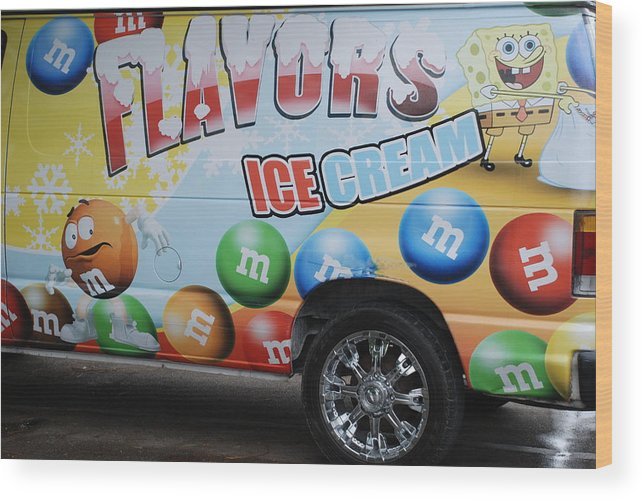 Sponge Bob Wood Print featuring the photograph M And M Flavors For The Kids by Rob Hans