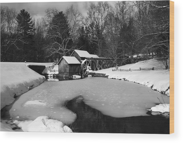 Ice Wood Print featuring the photograph Mill On Ice by Eric Liller
