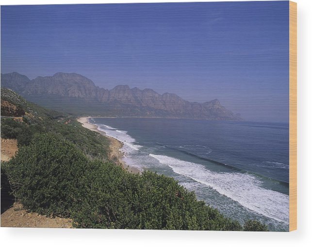 South Africa Wood Print featuring the photograph Mountains Meet Ocean On The Garden by Stacy Gold