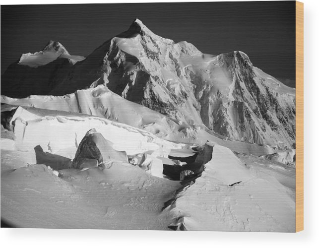 Mt. Hunter Wood Print featuring the photograph Mt. Hunter Sunset by Alasdair Turner
